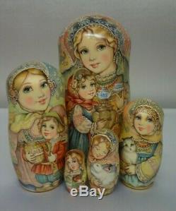 Author's russian matryoshka Tea with the family