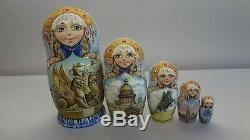 Author's russian matryoshka Types Of St. Petersburg