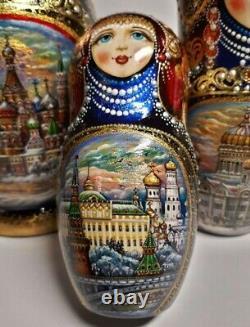 Author's russian matryoshka Winter Moscow