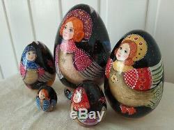 Author's russian matryoshka-egg The Sirins