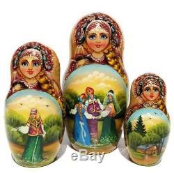 Bachelor 10 Piece Exclusive Babushka Matryoshka Russian Stacking Nesting Dolls