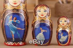 Ballerina doll, Russian nesting dolls, Matryoshka doll, Wooden dolls