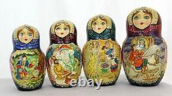 Beautiful 25 Pieces Nesting Doll (matrioshka, matryoska) Fairy-Tales- Signed