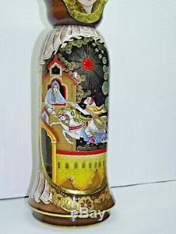 Case bottle 0.75 l Matryoshka Box babushka nesting dolls Russian lacquer OOAK