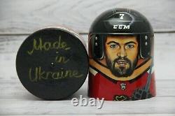 Chicago Blackhawks Hockey Sport Doll 7.08 Hand Painted Russian Nesting Doll