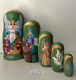 Christmas Matryoshka, Nativity scene, Russian Nesting dolls, Babushka