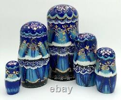 Christmas Style Matryoshka, Russian Nesting dolls, Babushka