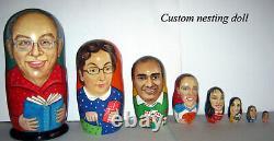 Custom nesting doll Custom portrait by photo 8 pieces portrait matryoshka