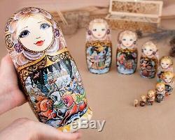 Custom nesting dolls Matryoshka doll Fairytale art Wooden doll Russian doll