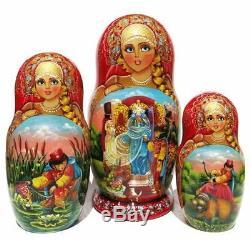 Czarevna 10 PC Russian Fairy Tale Exclusive Matryoshka Stacking Nesting Doll Set