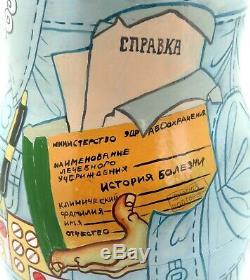 DOCTORS & NURSES Matryoshka Russian nesting dolls 10 FUNNY Doctor Nurse signed