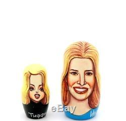 Donald Trump Nesting dolls FAMILY Melania Barron Ivanka Russian signed ABAKUMOV