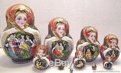 EXCLUSIVE hand painted nesting doll matryoshka babushka art doll Russian varnish