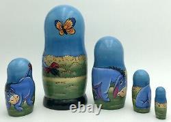 Eeyore Winnie-The-Pooh Inspired Matryoshka, Russian nesting dolls, handmade