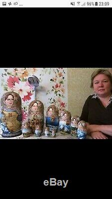 Exclusive 7 in 1 Russian Nesting Dolls USSR Space Yuri Gagarin