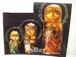 Fedoskino Lacquer (Russain Nesting Dolls) Matryoshki Angels by Eduard Makarov