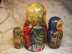Fedoskino Matryoshki (Nesting dolls) Angels of Light by Eduard Makarov