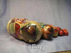 Fedoskino Matryoshki (Nesting dolls) The Birds of Paradise by Eduard Makarov