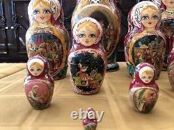 Fine Art, Matryoshka, Russian Nesting Dolls, 25 Pieces, Summer Scene, Signed 2004