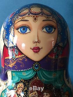 Fine Art, Matryoshka, Russian Nesting Dolls, Signed By Artist, 1998, 7 Pieces