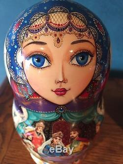 Fine Art, Matryoshka, Russian Nesting Dolls, Signed By Artist, 1998, 7 Pieces