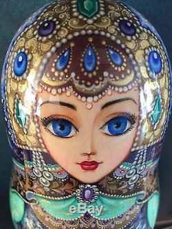 Fine Art, Matryoshka, Russian Nesting Dolls, Signed By Artist, 1999, 7 Pieces
