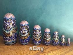 Fine Art, Matryoshka, Russian Nesting Dolls, Signed By Artist, 1999, 7 Pieces