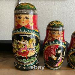 Fine Art Russian Nesting Dolls 1994 Rare Signed 10 dolls Mint R. Ceprueb