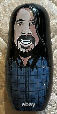 Foo Fighters Russian Nesting Dolls SUPER RARE Dave Grohl Concrete & Gold Bundle