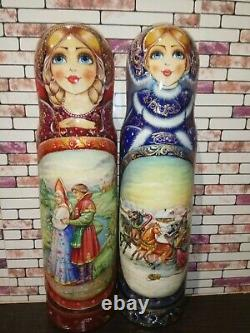 For alcohol storage flask matryoshka hand painted Russian nesting doll exclusive