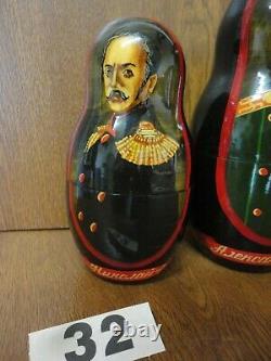 Good Quality 8 Piece Russian Tsar Dolls 1701 1917 / Romanov