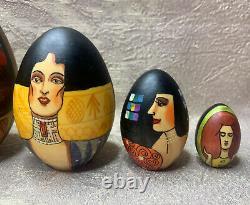 Gustav Klimt Egg Nesting Dolls Matryoshka 5.5 (14cm). Made in Russian souvenir