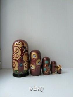 Gustav Klimt inspired Matryoshka, Babushka, Russian Nesting dolls