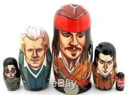 JOHNNY DEPP Jack Sparrow Gellert Grindelwald Sweeney Todd Russian nesting doll 5