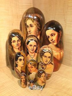 KIPRENSKY OREST PORTRAITS PAINTINGS by RUSSIAN ARTIST MATRYOSHKA NESTING DOLL 10