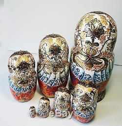 MATRESHKA RUSSIAN DOLL Matryoshka Nesting PUTIN RUSSIA RARE
