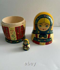 Madame Alexander 8 inch Russian Doll With Nesting Doll Set 24150 MIB