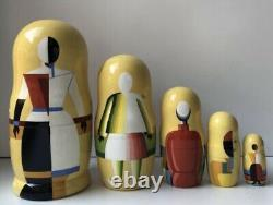 Malevich inspired Matryoshka, Babushka, Russian Nesting dolls, Avant-garde Style