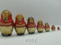 Manchester United 98/99 Winning Team Treble Russian Nesting Dolls EXTREMELY RARE
