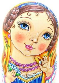 Martryoshka Vinogradova Tea drinking tradition Russian nesting dolls 5 HAND MADE
