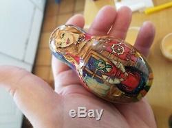 Matrioshka Russian Vintage Artist Signd Hand painted Babushka Nesting Dolls RARE
