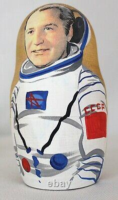 Matrioshka Unique Russian Nesting Doll Soviet Russian Astronauts Yuriy Gagarin