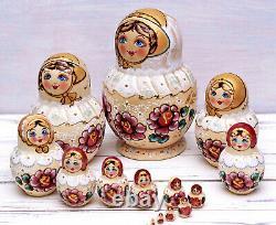Matryoshka 15 piece Nesting dolls Russian Babushka hand-painted doll Princess
