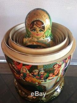 Matryoshka 30 in 1, Russian Nesting Doll, Original, 2003 by Matveeva Russia $2,000