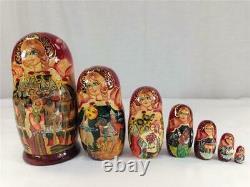Matryoshka 7 Piece Set Russian Nesting Dolls Hand Painted