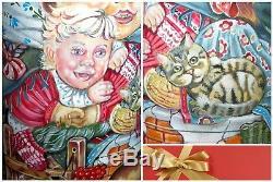 Matryoshka Children Chicken Cat Puppy Dog Russian MATT nesting dolls 5 Obichova