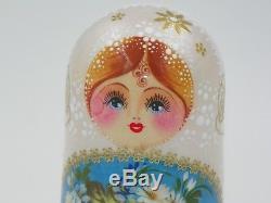 Matryoshka Nesting Dolls Russian Wood Toy Folk Art 5 piece Great gift