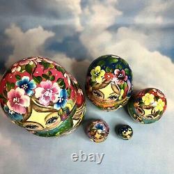 Matryoshka Russian Nesting Doll Exquisite 5 dolls Elaborate painting