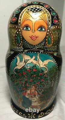 Matryoshka Russian Nesting Doll Exquisite, 7 dolls Elaborate painting