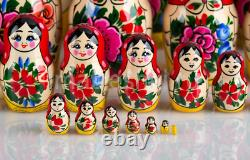 Matryoshka Russian Traditional 30pcs Hand painted Nesting Doll